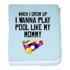 Pool Like My Mommy baby blanket