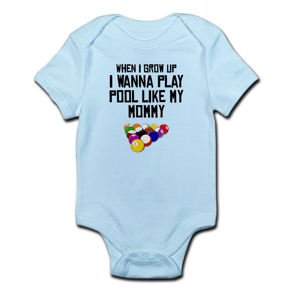 1281939046 CafePress Pool Like My Mommy Body Suit Baby Bodysuit