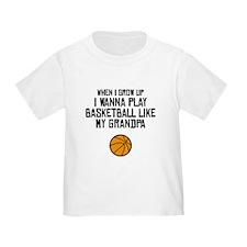 Basketball Like My Grandpa T-Shirt