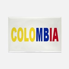 Colombia tricolor name Rectangle Magnet