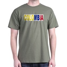 Colombia tricolor name T-Shirt