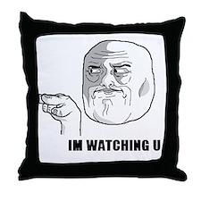 i'm watching u troll face Throw Pillow