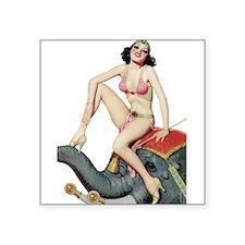 Bohemian Gypsy Elephant Pin Up Girl Sticker