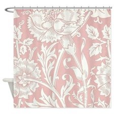 William Morris Pink and Rose Shower Curtain