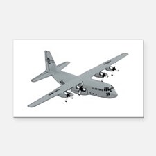 C-130 Rectangle Car Magnet