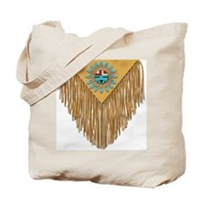Hopi Sunface Leather Yoke Tote Bag
