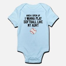 Softball Like My Aunt Body Suit