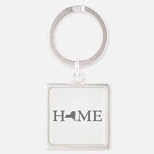 New York Home Square Keychain