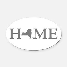New York Home Oval Car Magnet