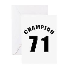 71 Champion Birthday Designs Greeting Card