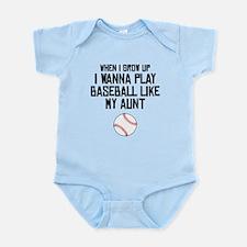 Baseball Like My Aunt Body Suit