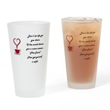 Life's Plot twist Drinking Glass