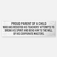 Proud Parent Bumper Sticker (clear)