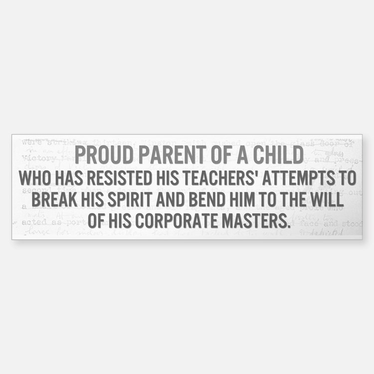 Proud Parent Bumper Sticker (clear)