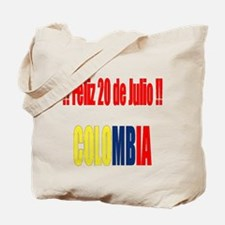 20 Julio Colombian day Tote Bag