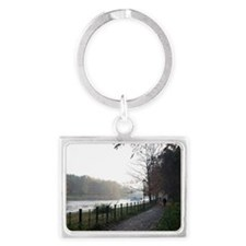Picturesque walkway on the Rive Landscape Keychain