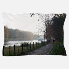 Picturesque walkway on the River Spree Pillow Case
