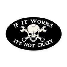 If It Works Oval Car Magnet