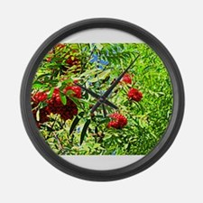 Rowan berries Large Wall Clock