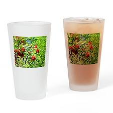 Rowan berries Drinking Glass