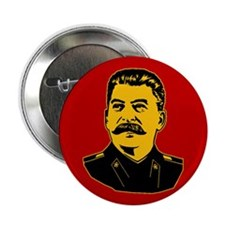 Stalin Propaganda Button