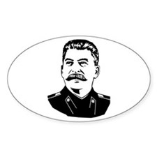 Stalin Propaganda Oval Decal