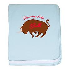 Running of the Bulls baby blanket