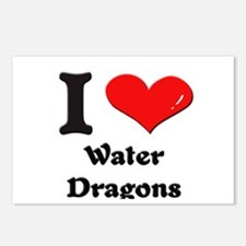 I love water dragons  Postcards (Package of 8)