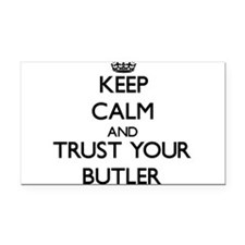 Keep Calm and Trust Your Butler Rectangle Car Magn