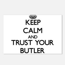 Keep Calm and Trust Your Butler Postcards (Package