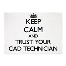Keep Calm and Trust Your Cad Technician 5'x7'Area