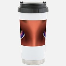 Mesmerizing Purple Eyes Girl Travel Mug