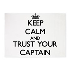 Keep Calm and Trust Your Captain 5'x7'Area Rug