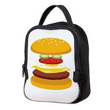 Cheeseburger Hamburger Neoprene Lunch Bag