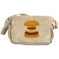 Cheeseburger Hamburger Messenger Bag