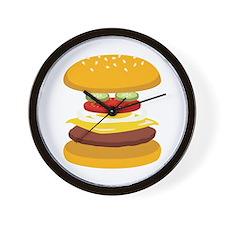 Cheeseburger Hamburger Wall Clock