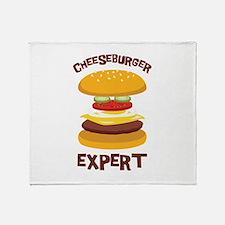 CHEESEBURGER EXPERT Throw Blanket