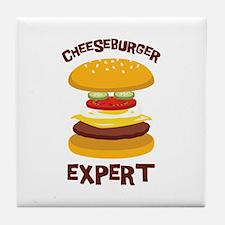 CHEESEBURGER EXPERT Tile Coaster