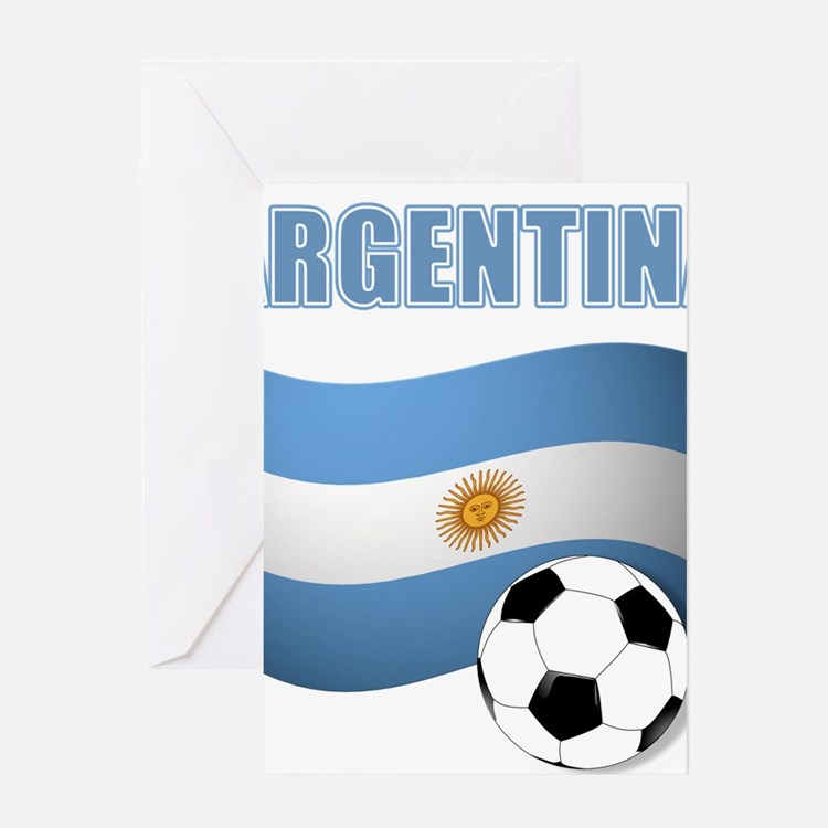Argentina soccer Greeting Cards