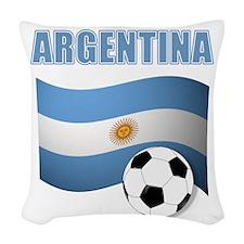 Argentina soccer Woven Throw Pillow
