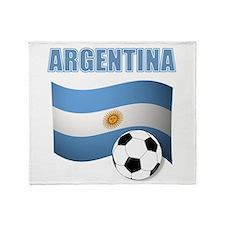 Argentina soccer Throw Blanket