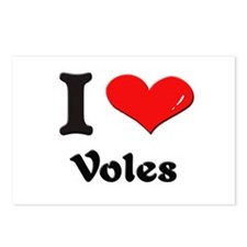 I love voles  Postcards (Package of 8)