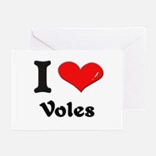 I love voles  Greeting Cards (Pk of 10)