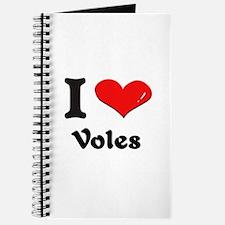 I love voles Journal