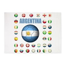 Argentina soccer 5'x7'Area Rug