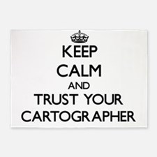 Keep Calm and Trust Your Cartographer 5'x7'Area Ru