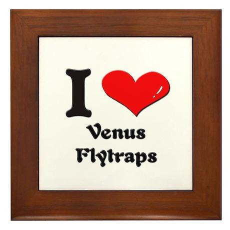 I love venus flytraps Framed Tile