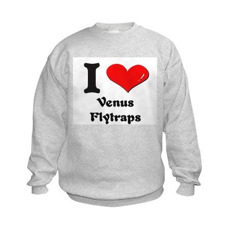 I love venus flytraps Kids Sweatshirt