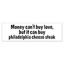 philadelphia cheese steak (mo Bumper Bumper Sticker