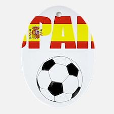 Spain soccer Ornament (Oval)
